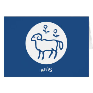 Aries Zodiac Horoscope Astrology Card