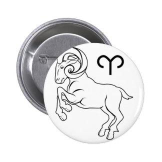Aries zodiac horoscope astrology sign button