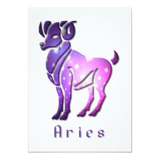 Aries Zodiac Invitation