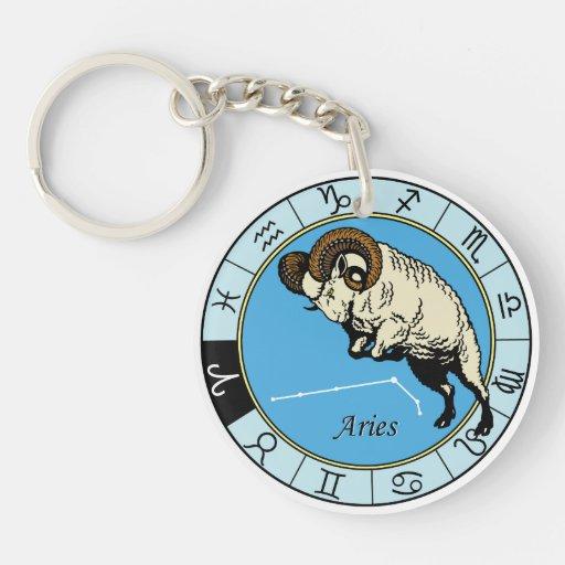 aries zodiac acrylic key chains