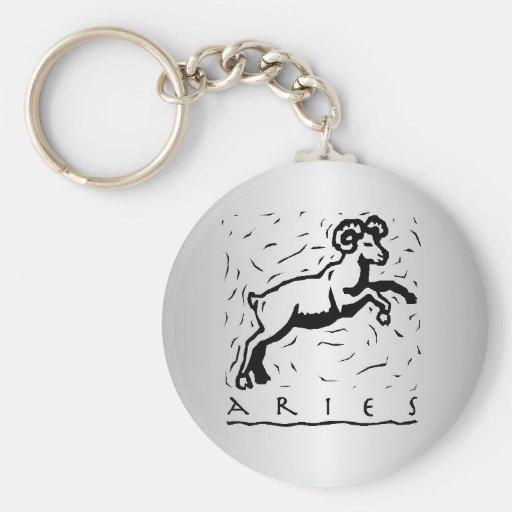 Aries Zodiac Keychain