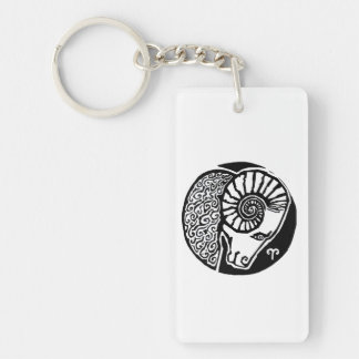 Aries - Zodiac Keyfob rectangle Key Ring