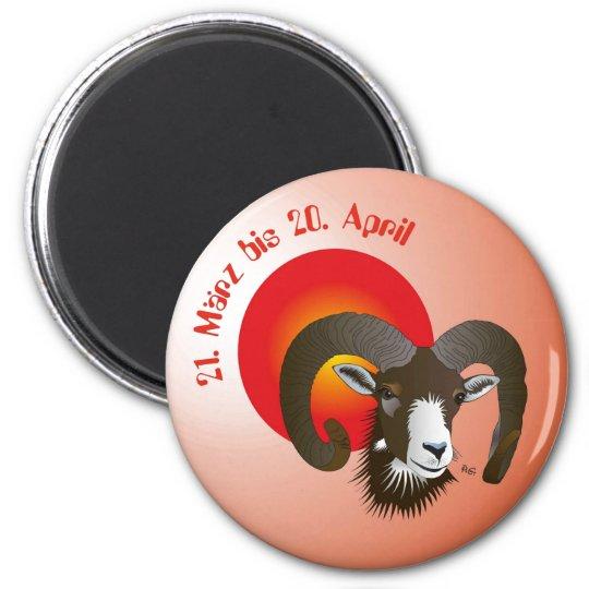 Aries - zodiac magnet