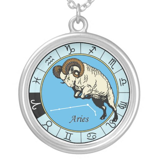 aries zodiac necklaces