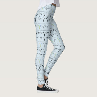 Aries Zodiac Pattern Leggings