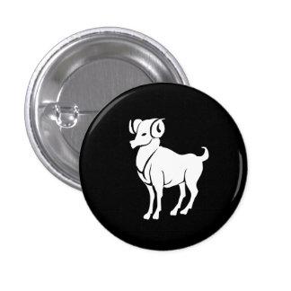 Aries Zodiac Pictogram Button