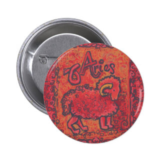 Aries Zodiac Products Buttons