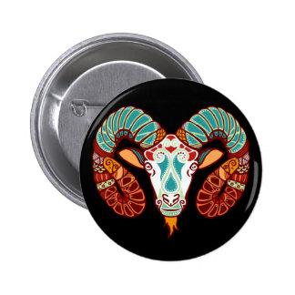 Aries Zodiac - Ram Button