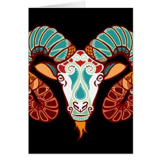 Aries Zodiac - Ram Card