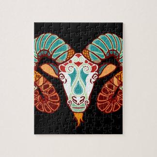 Aries Zodiac - Ram Jigsaw Puzzle