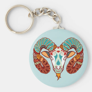Aries Zodiac - Ram Basic Round Button Key Ring