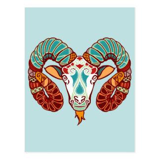 Aries Zodiac - Ram Postcard