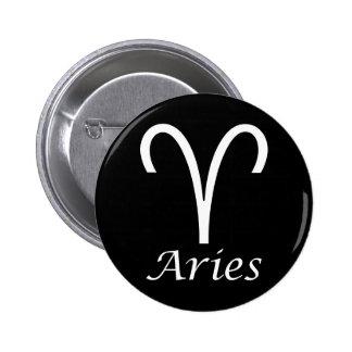 'Aries' Zodiac Sign Pins