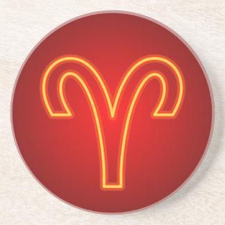 Aries Zodiac Sign Coaster