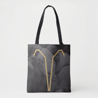 Aries Zodiac Sign | Custom Background Tote Bag