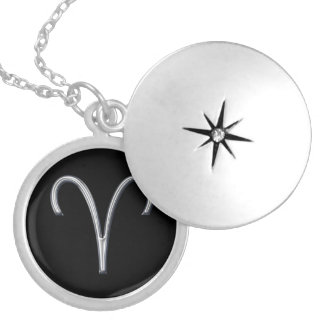 Aries Zodiac Sign-Faux Metal Design Silver Plated Necklace