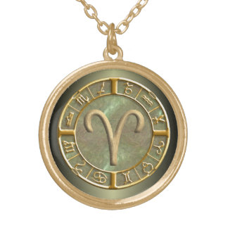 Aries Zodiac Sign Necklace
