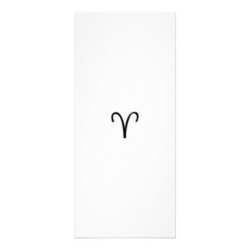 Aries - Zodiac Sign Rack Card Design