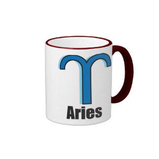 Aries Zodiac Sign Ringer Mug