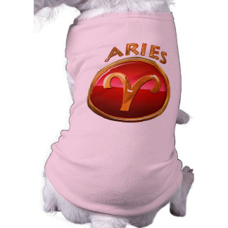 Aries Zodiac Sign Sleeveless Dog Shirt