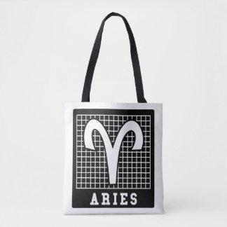 Aries Zodiac Sign Tote Bag