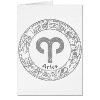 Aries Zodiac sign vintage Card