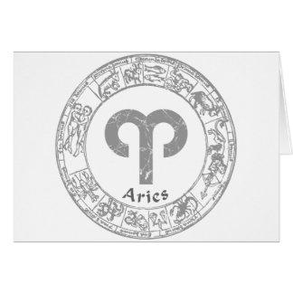 Aries Zodiac sign vintage Greeting Card