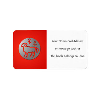 Aries Zodiac Star Sign Silver Premium Name Tag
