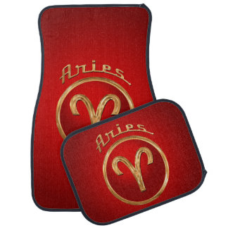 Aries Zodiac Symbol Car Mat
