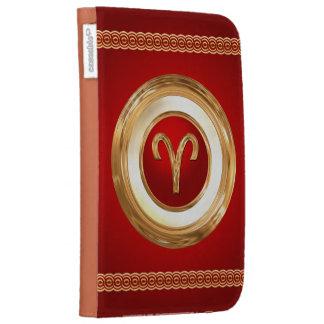 Aries Zodiac Symbol Kindle Folio Case