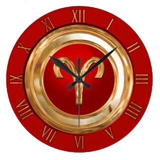 Aries Zodiac Symbol Wallclock