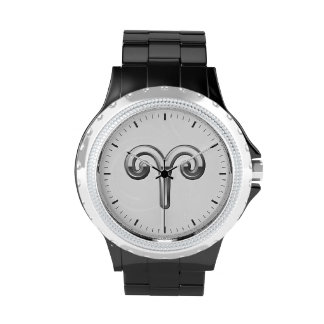Aries Zodiac Symbol - Cool Astrology Sign Wristwatch