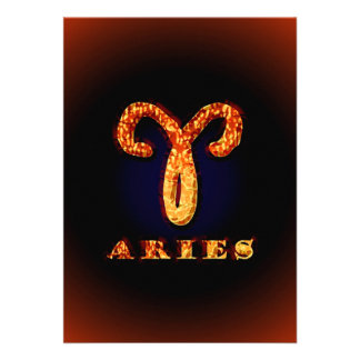 Aries Zodiac Symbol Custom Invites