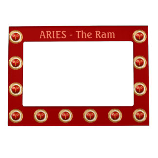 Aries Zodiac Symbol Magnetic Picture Frame