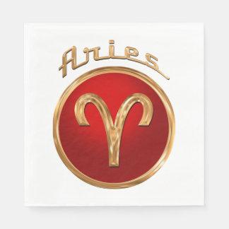 Aries Zodiac Symbol Disposable Serviette