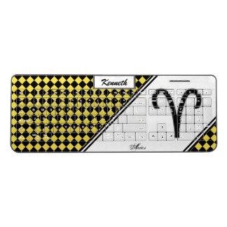 Aries Zodiac Symbol Standard by Kenneth Yoncich Wireless Keyboard
