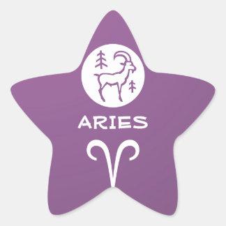 ARIES ZODIAC Symbol Star Sticker