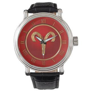 Aries Zodiac Symbol Watches