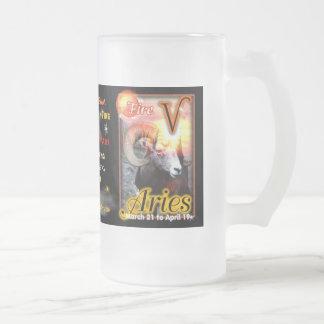 Aries Zodiac tall glass Mug