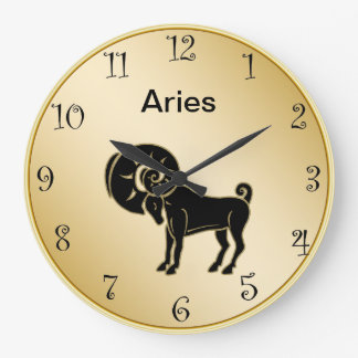 Aries Zodiac Wall Clock