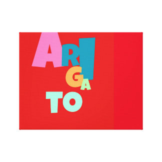 ARIGATO art Canvas Print