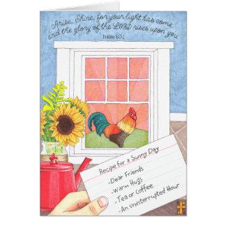 Arise Shine Friendship Card