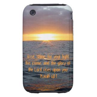 Arise Shine - Isaiah 60 1 iPhone 3 Tough Cases