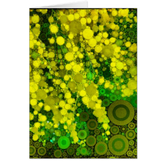 Aristic Yellow Mimosa Flower Blank Greeting Card