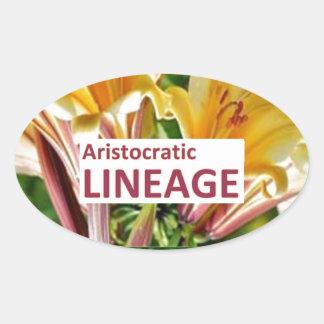 AristocraticLINEAGE : Secret fun PHRASE Code Oval Sticker