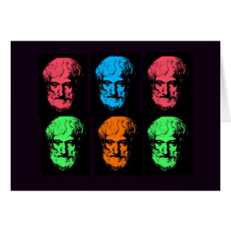 Aristotle Collage Greeting Card