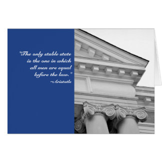 Aristotle Columns Law School Graduation Card