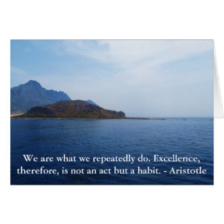 Aristotle Excellence Quotation Card