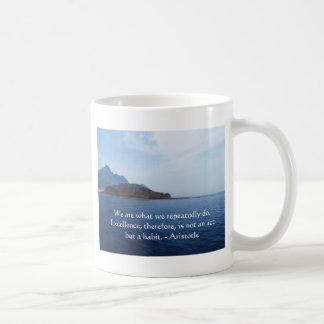 Aristotle Excellence Quotation Coffee Mug