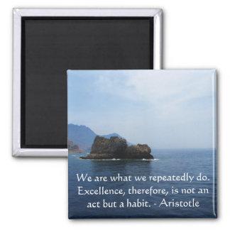 Aristotle Excellence Quotation Magnet